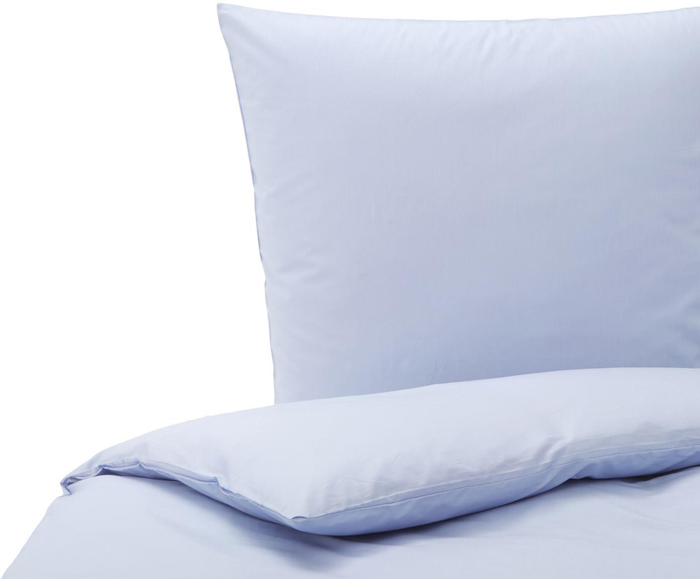 Baumwoll-Bettwäsche Weekend in Hellblau, 100% Baumwolle Bettwäsche aus Baumwolle fühlt sich auf der Haut angenehm weich an, nimmt Feuchtigkeit gut auf und eignet sich für Allergiker., Hellblau, 135 x 200 cm + 1 Kissen 80 x 80 cm