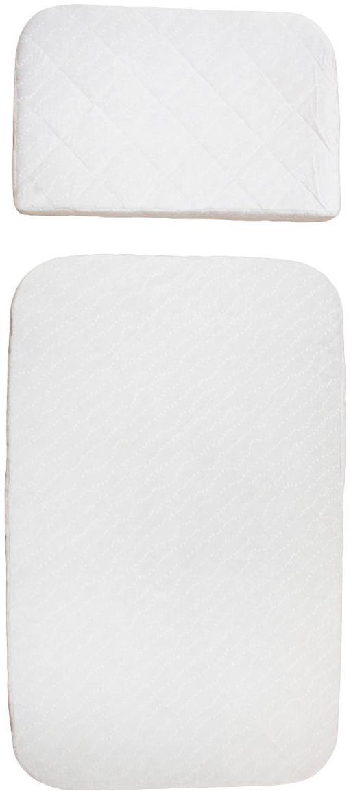 Set materassi per bambini Harmony 2 pz, Bianco, Larg. 70 x Lung. 113 cm