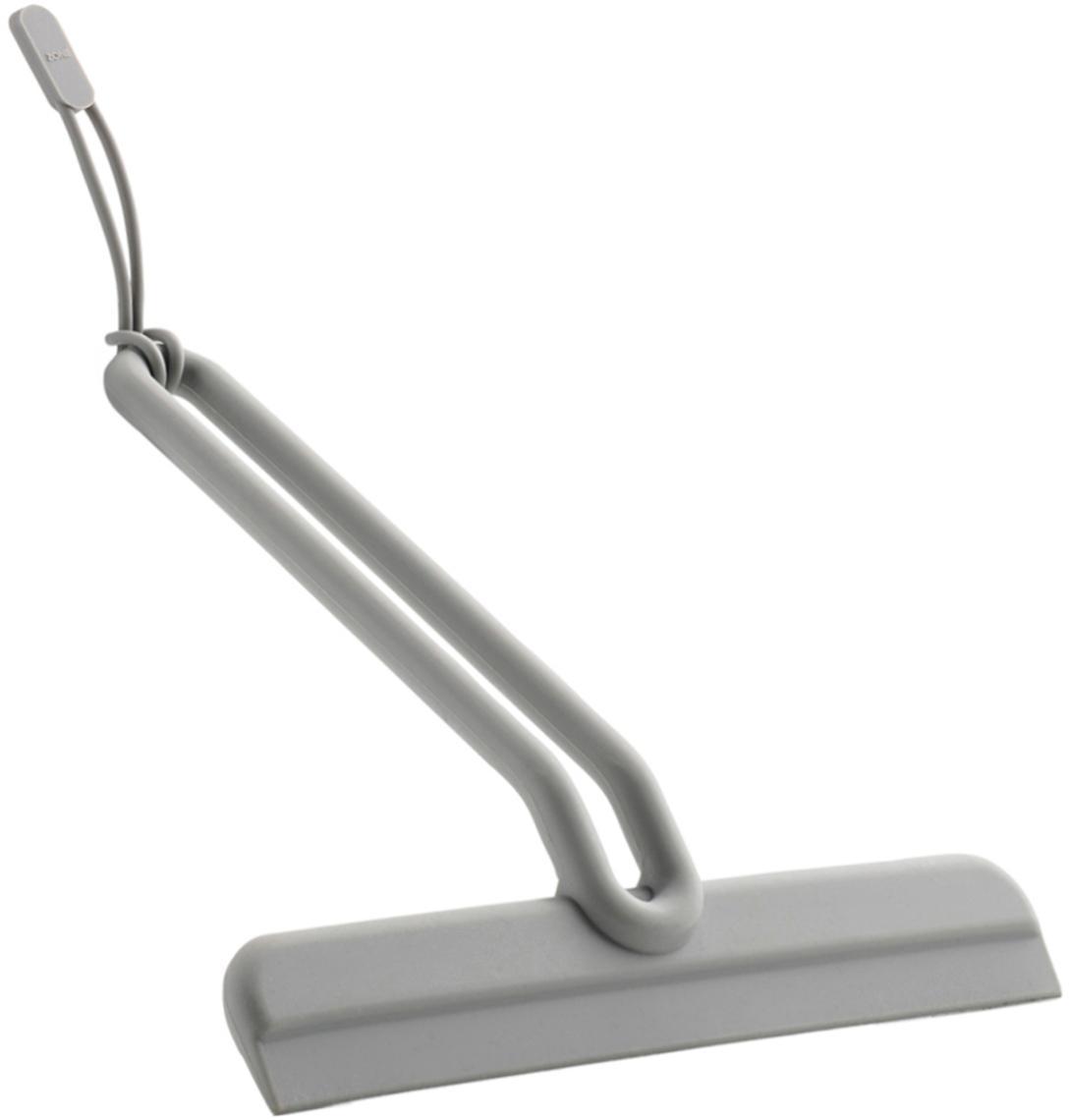 Abzieher Aguina mit Aufhängeschlaufe, Griff: Stahl, lackiert, Abziehleiste: Silikon, Grau, 20 x 19 cm