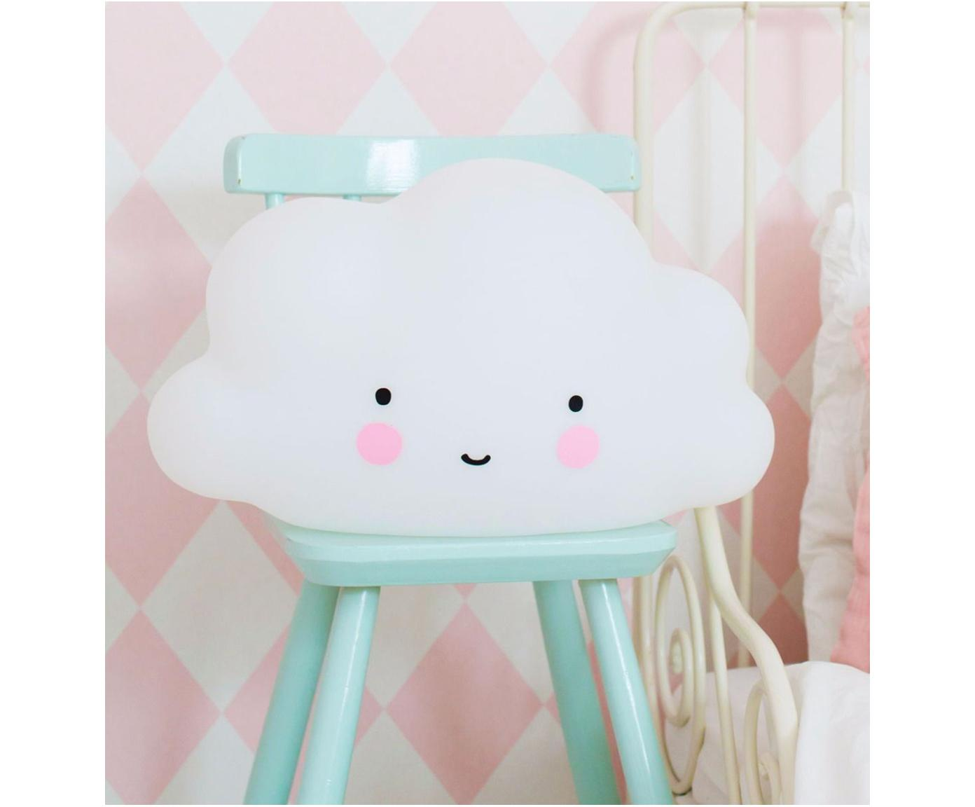 LED Leuchtobjekt Cloud, Kunststoff, Weiß, Rosa, Schwarz, 45 x 25 cm
