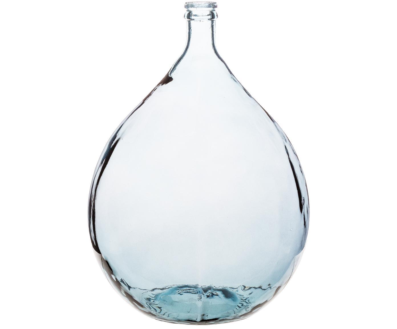 Jarrón de suelo de vidrio reciclado Drop, Vidrio reciclado, Azul, Ø 40 x Al 56 cm