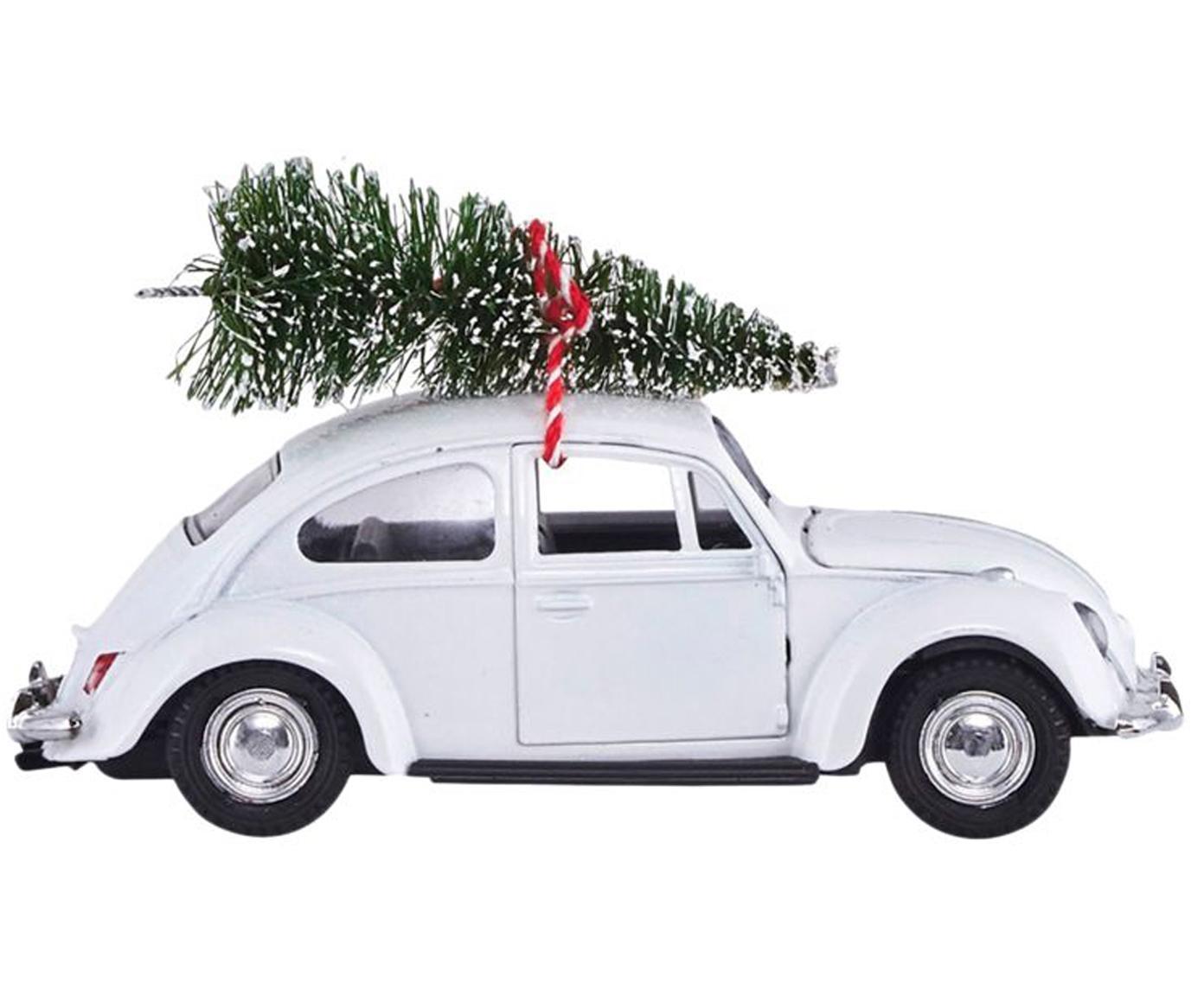 Macchina natalizia decorativa Tree Delivery, Zinco, plastica, Bianco, rosso, verde, Larg. 5 x Alt. 7 cm
