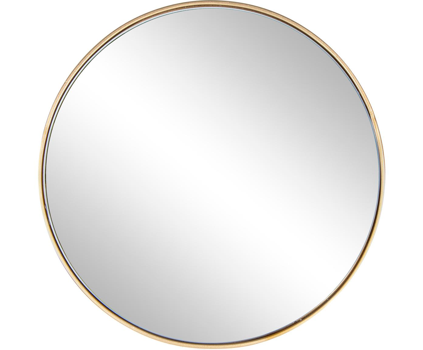 Specchio rotondo da parete con cornice dorata Nucleos, Cornice: metallo rivestito, Superficie dello specchio: lastra di vetro, Ottonato, Ø 40 cm