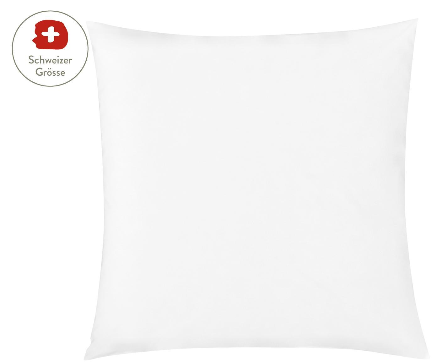 Baumwollperkal-Kissenbezug Elsie in Weiss, Webart: Perkal Fadendichte 200 TC, Weiss, 65 x 65 cm