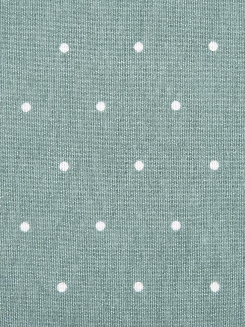Dwustronna pościel z cienkiej flaneli Betty, Szałwiowy zielony, biały, 240 x 220 cm
