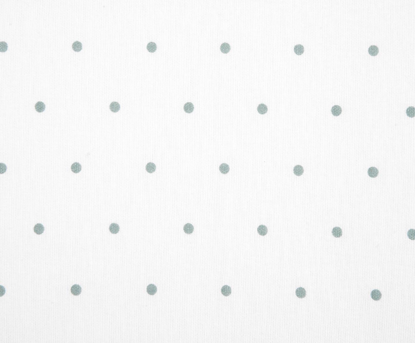 Flanell-Wendebettwäsche Betty, gepunktet, Webart: Flanell Flanell ist ein s, Salbeigrün, Weiss, 240 x 220 cm + 2 Kissen 80 x 80 cm