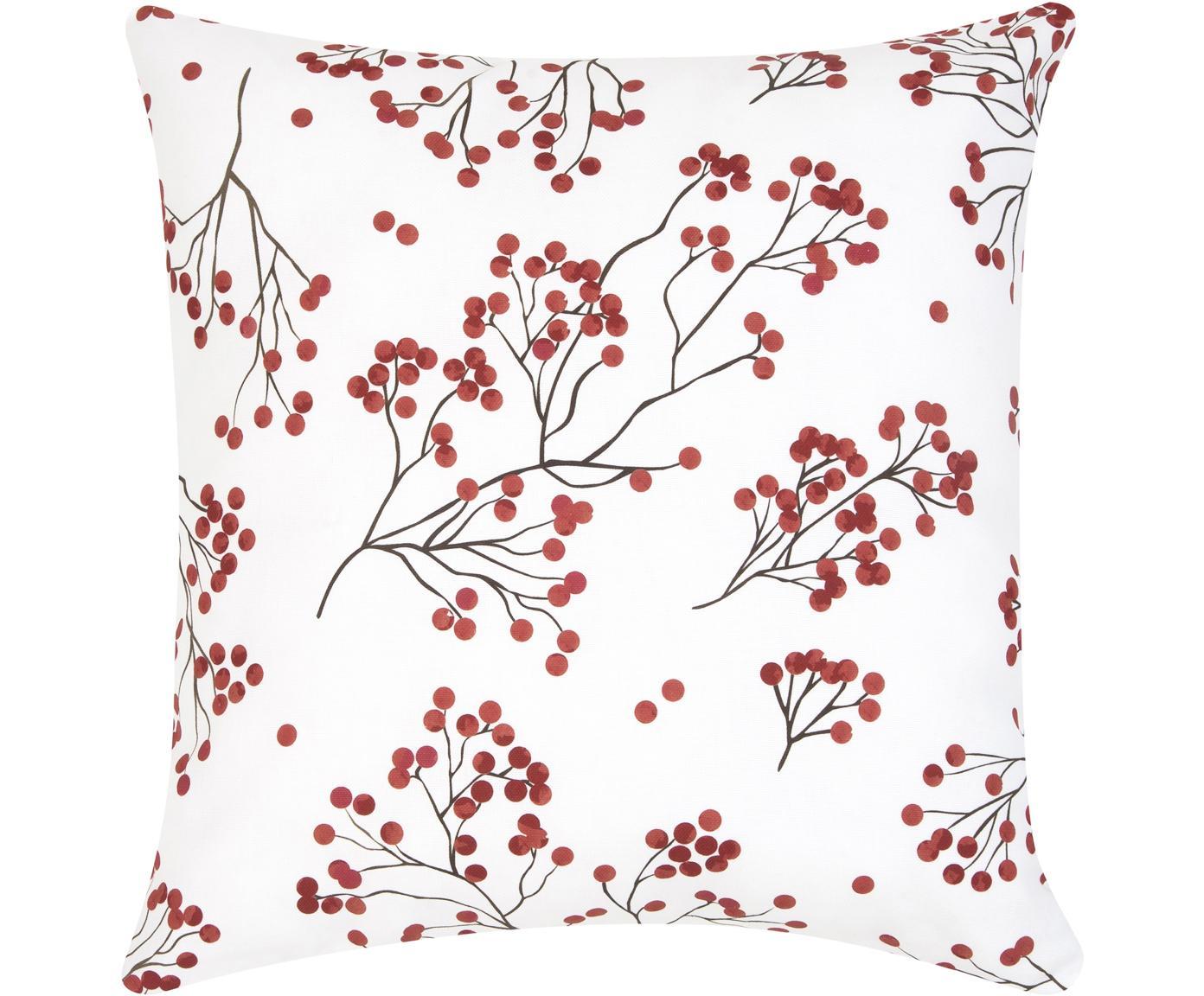 Federa arredo Berry, Cotone, Rosso, nero, bianco, Larg. 40 x Lung. 40 cm
