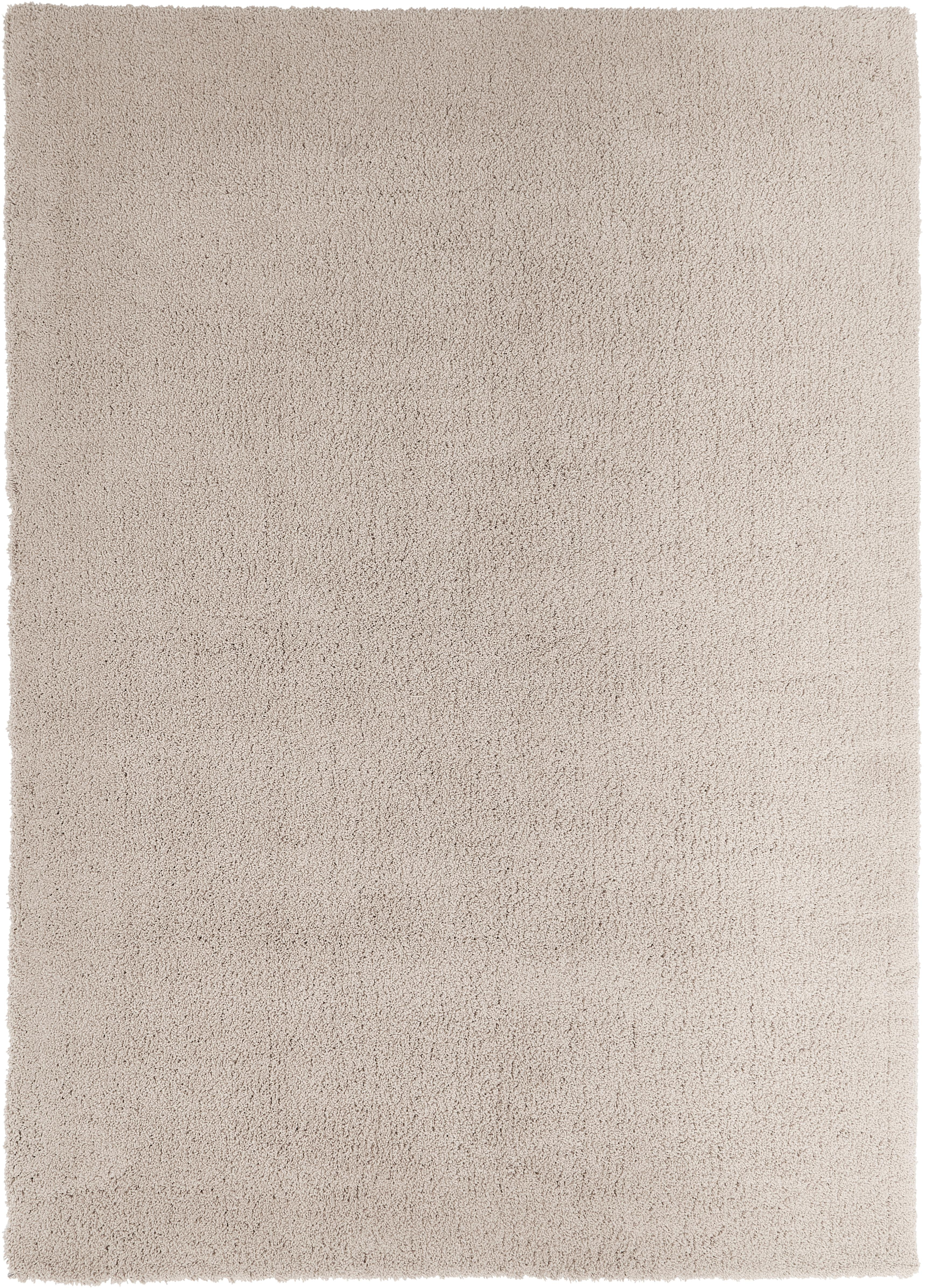 Tappeto peloso morbido beige Leighton, Retro: 70% poliestere, 30% coton, Beige-marrone, Larg.160 x Lung. 230 cm  (taglia M)