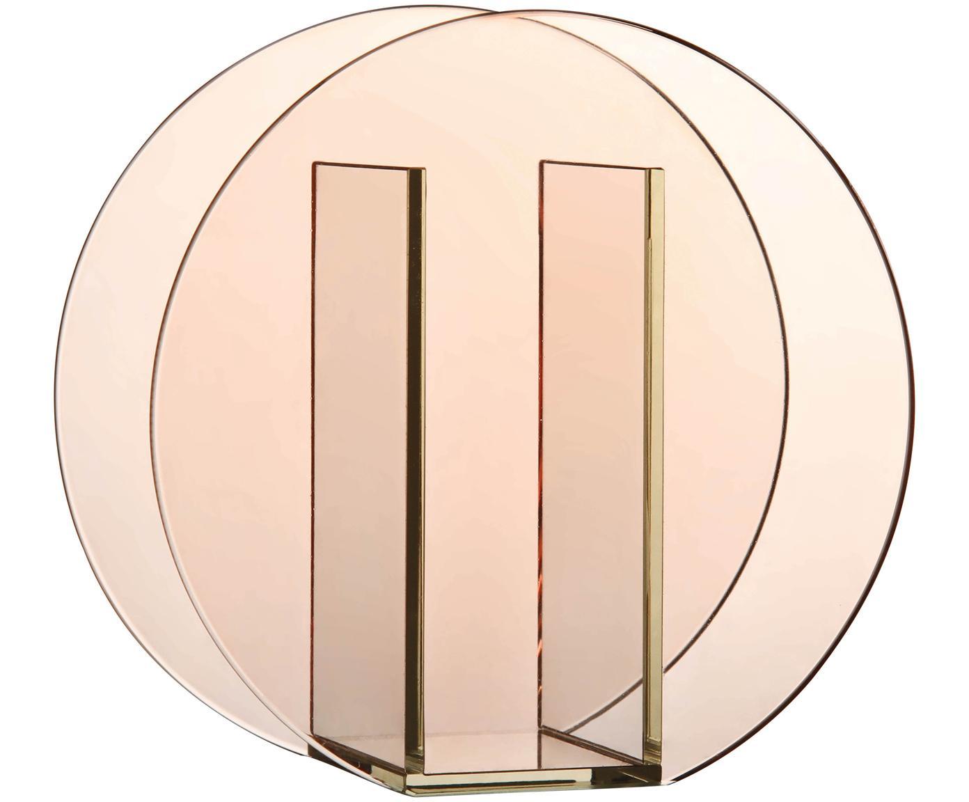 Glas-Vase Transparence, Glas, Rosa, 17 x 17 cm