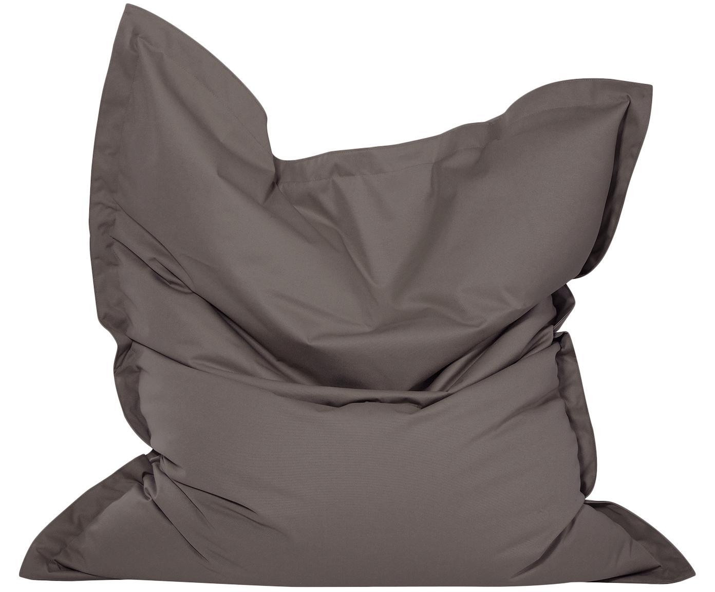 Großer Sitzsack Meadow, Bezug: Polyester, polyurethanbes, Anthrazit, 130 x 160 cm