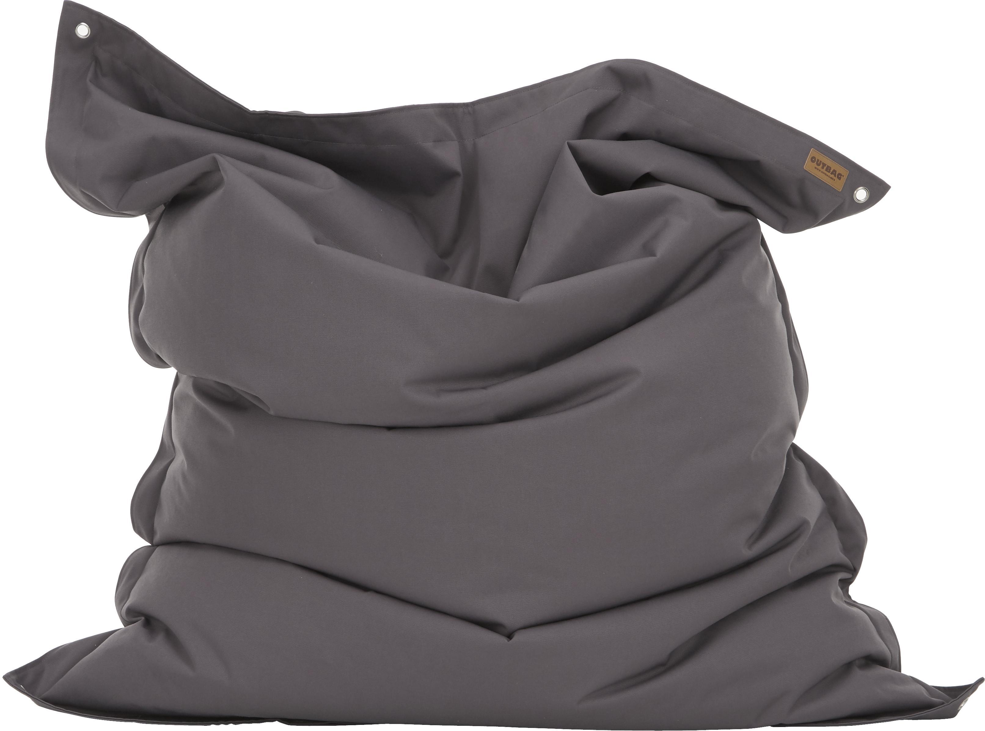 Grosser Sitzsack Meadow, Bezug: Polyester, polyurethanbes, Anthrazit, 130 x 160 cm