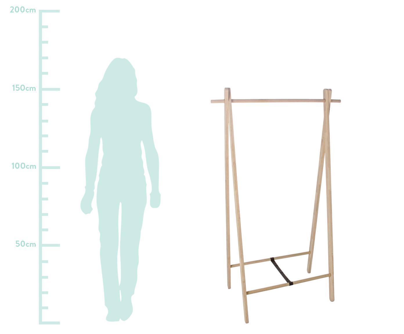 Garderobe Stand aus Eichenholz, Braun, 89 x 151 cm