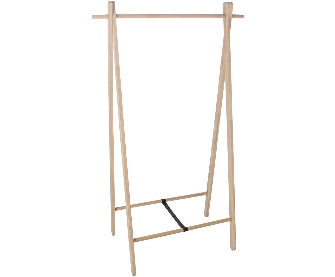Garderobe Stand van eikenhout, Eikenhout, Bruin, 89 x 151 cm