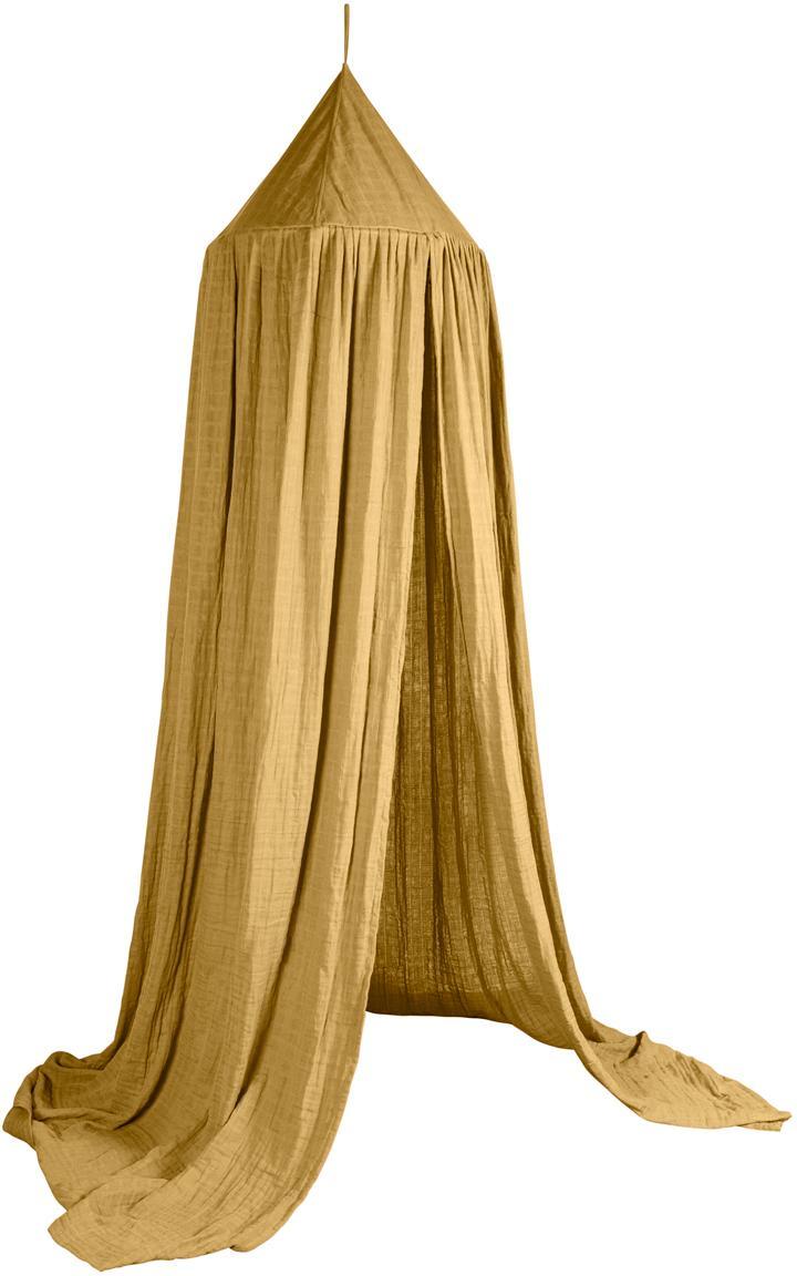 Dosel para cama Stars, Funda: algodón, Amarillo, Ø 52 x Al 240 cm