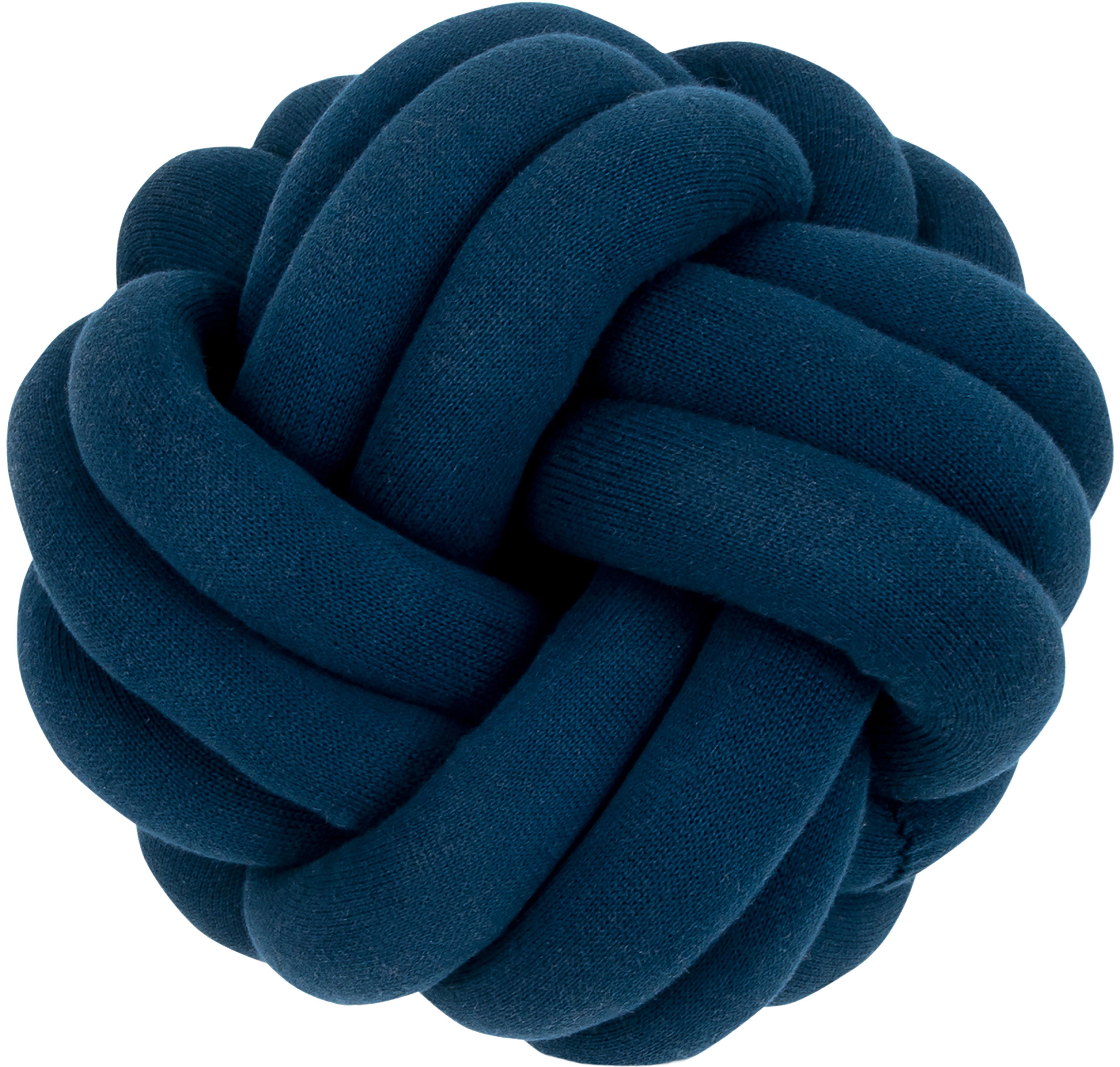Cojín nudo Twist, Azul oscuro, Ø 30 cm