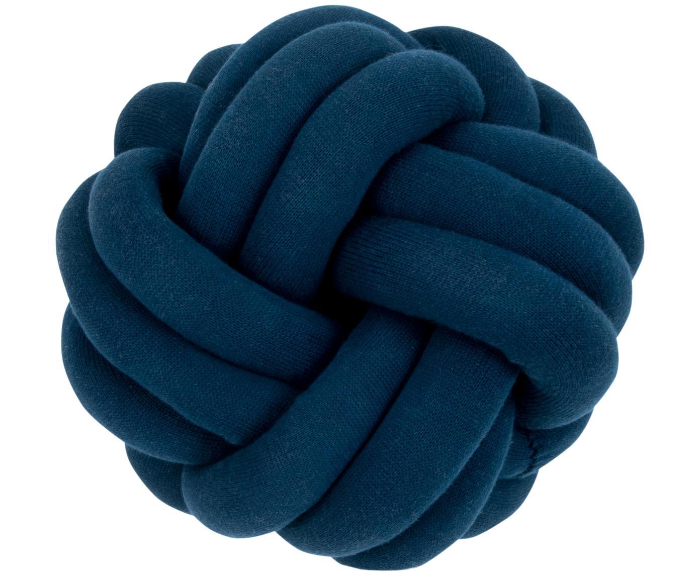 Poduszka Twist, Ciemny niebieski, Ø 30 cm
