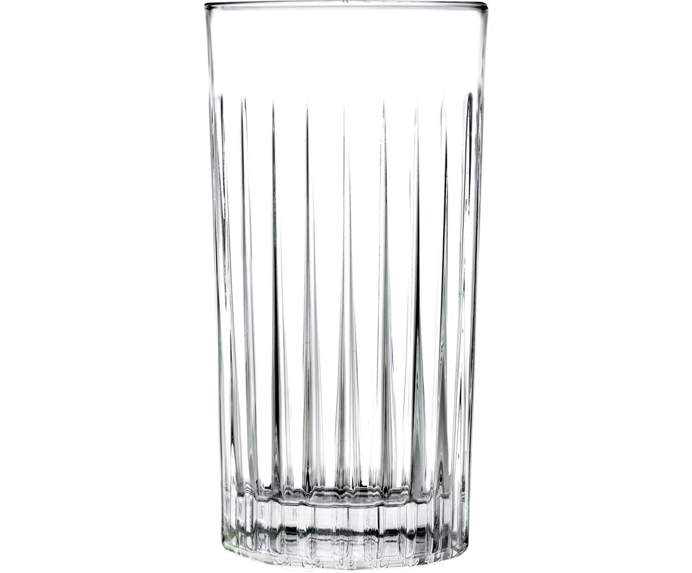 Kristallen longdrinkglazen Timeless, 6 stuks, Kristalglas, Transparant, Ø 8 x H 15 cm