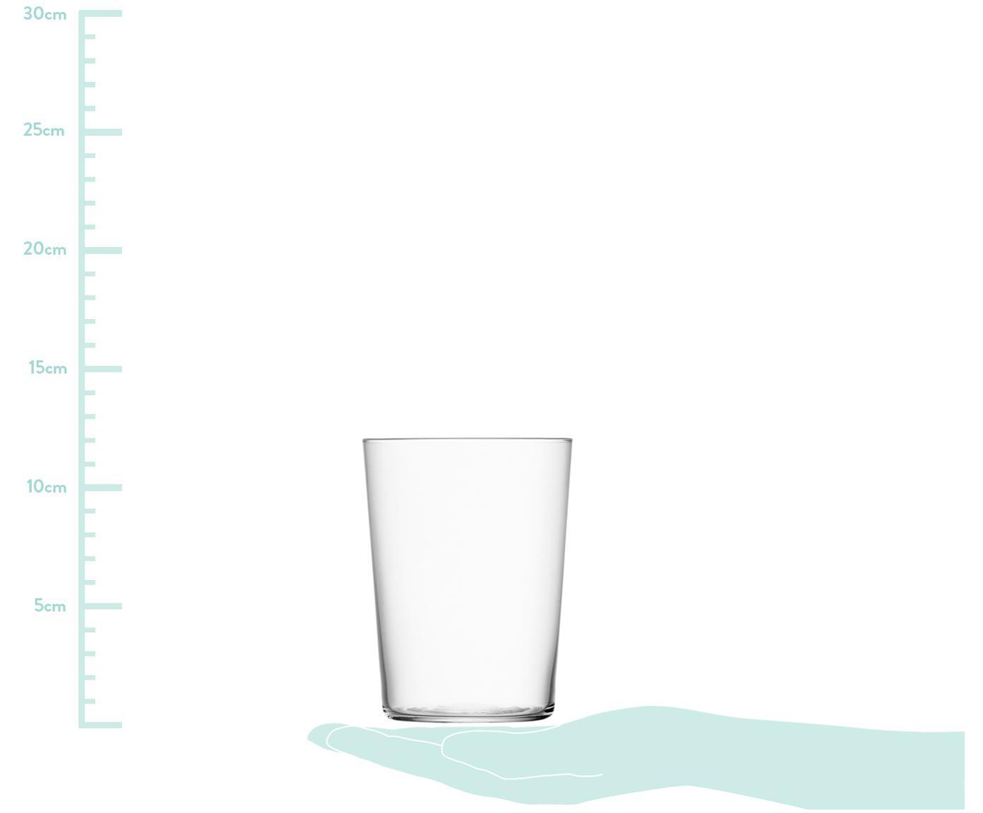 Szklanka do wody Gio, 6 szt., Szkło, Transparentny, Ø 9 x W 12 cm