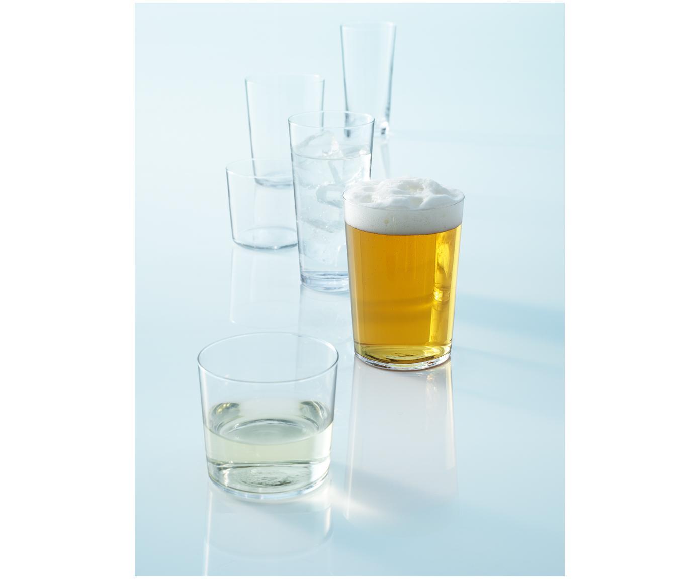 Bicchiere acqua in vetro sottile Gio 6 pz, Vetro, Trasparente, Ø 9 x Alt. 12 cm