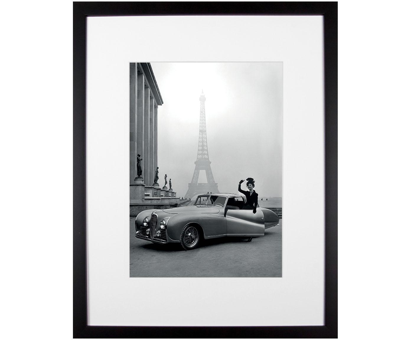 Impresión digital enmarcada France 1947, Parte trasera: fibras de densidad media, Negro, blanco, An 35 x Al 45 cm