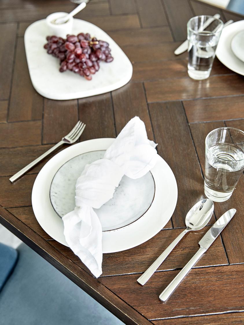 Silberglänzendes Besteck-Set Shine aus Edelstahl, in verschiedenen Setgrößen, Messer: Edelstahl 13/0 poliert, Edelstahl, 20-tlg.