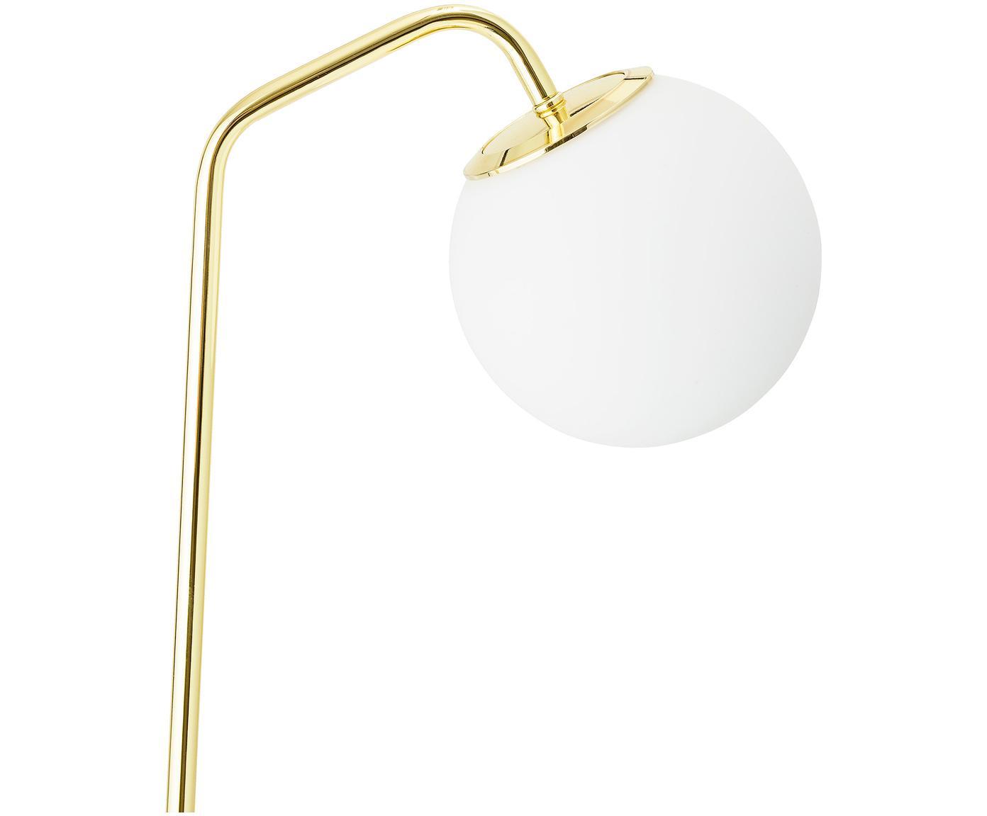 Lampa podłogowa Kurt, Stelaż: metal lakierowany, Odcienie mosiądzu, S 30 x W 150 cm