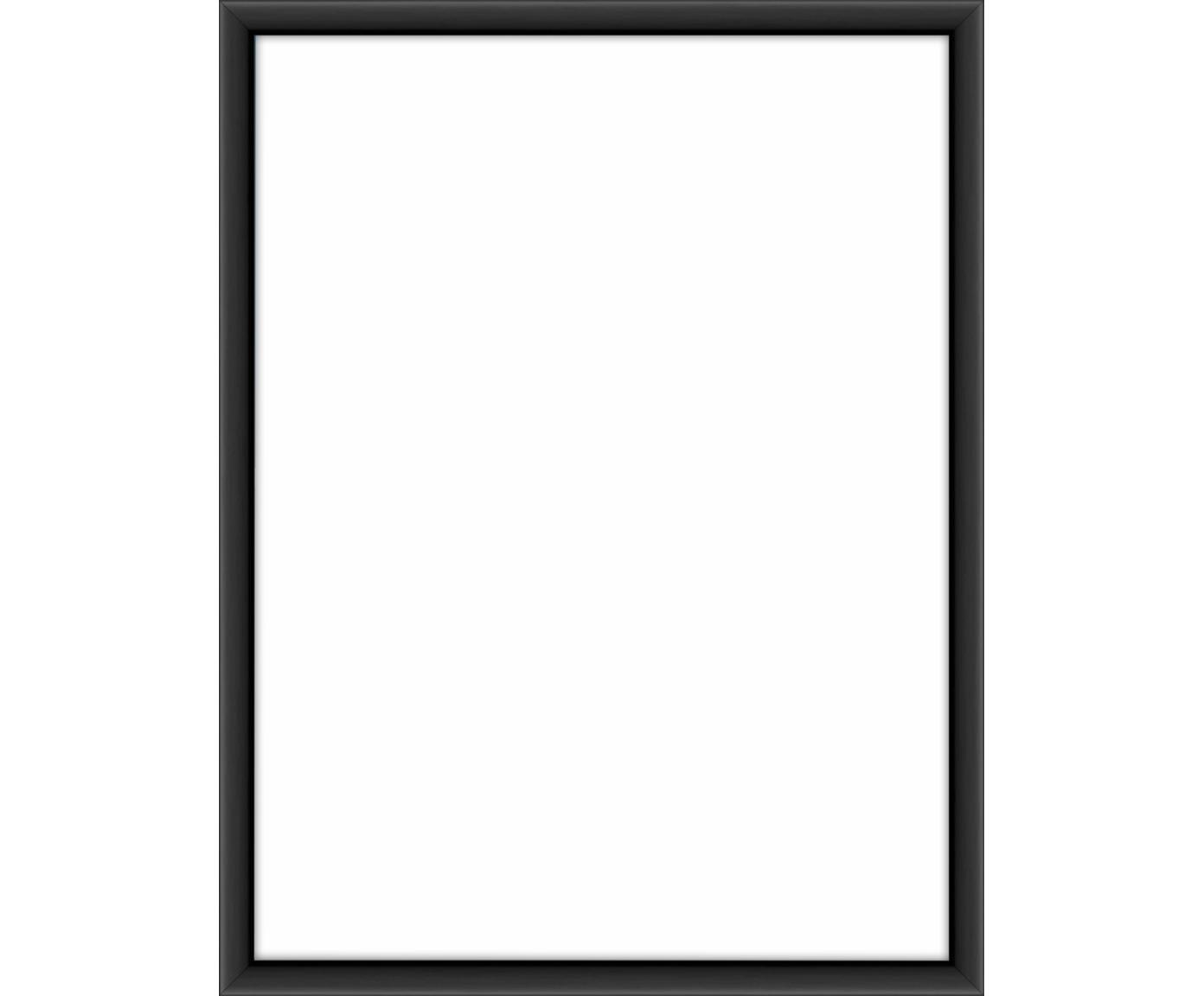 Marco Accent, Parte trasera: tablero de fibras de dens, Negro, 15 x 20 cm