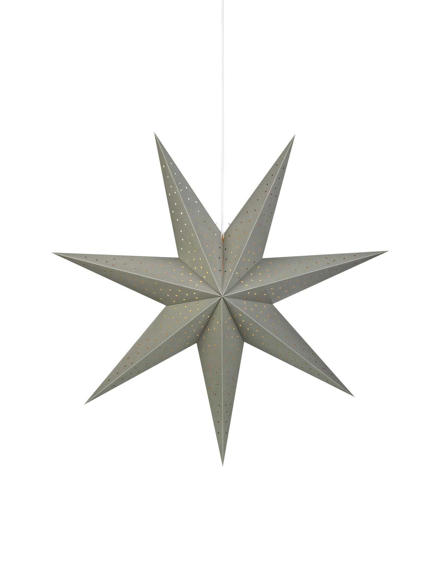 Stella di Natale di carta Morris, Grigio, Ø 75 cm