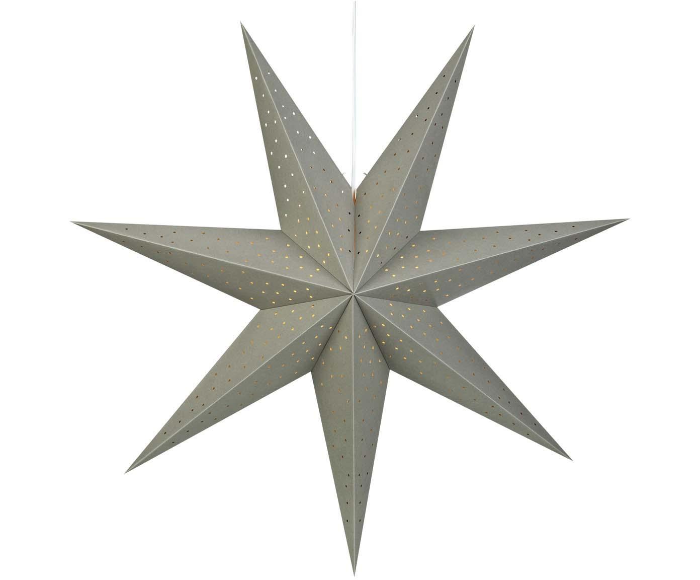 Estrella de Navidad Morris, Cable: plástico, Gris, Ø 75 cm
