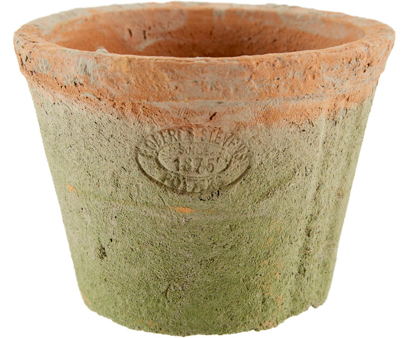 Komplet osłonek na doniczkę Daria, 5 elem., Terakota, czarny, S 24 x W 10 cm