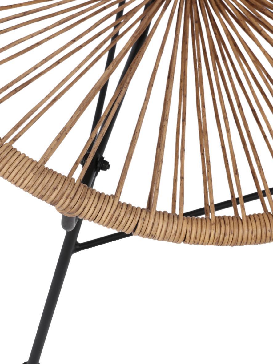 Fauteuil acapulco plastique tressé Bahia, Plastique: beige Structure: noir