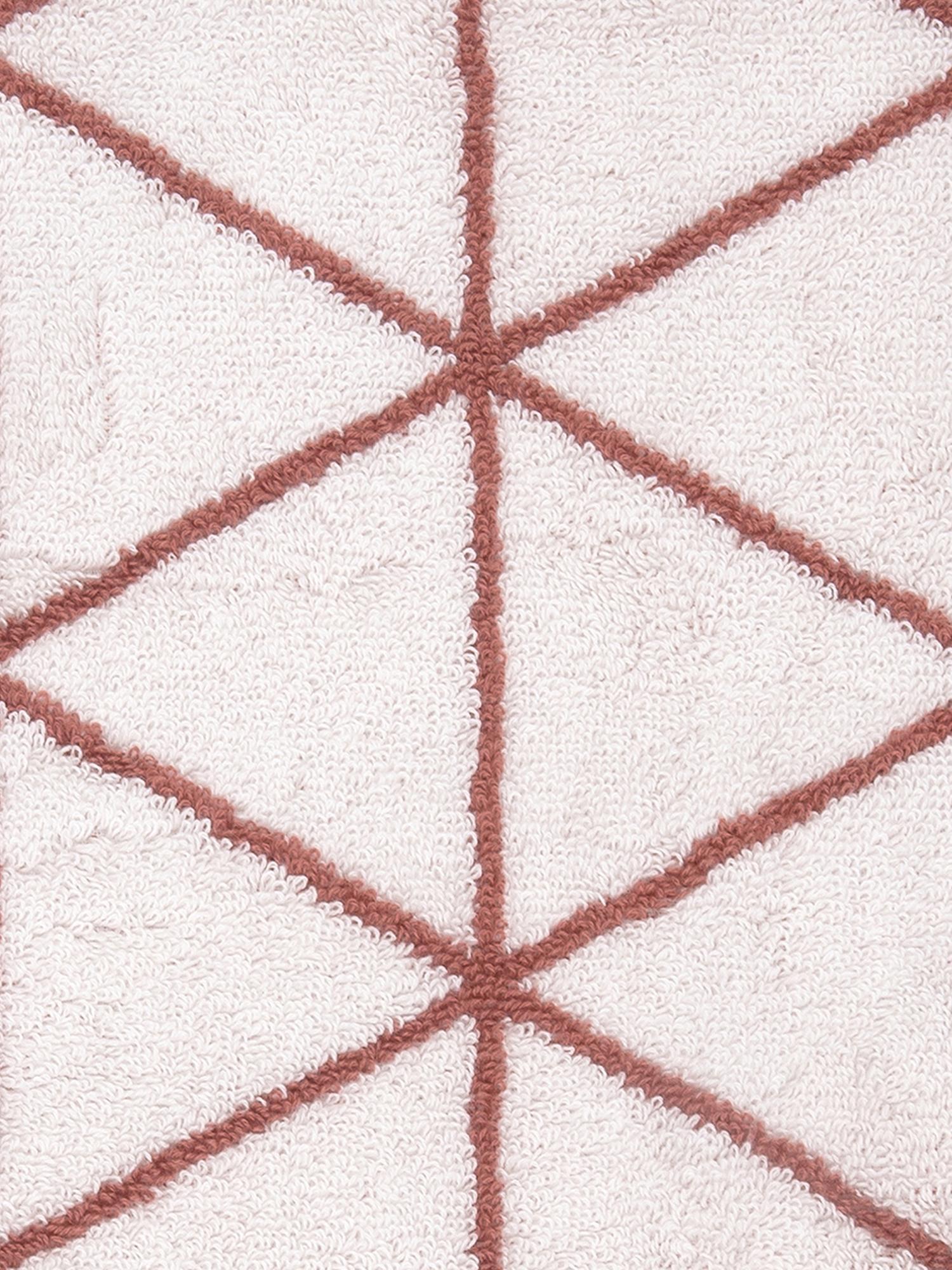 Wende-Handtuch-Set Elina mit grafischem Muster, 3-tlg., Terrakotta, Cremeweiß, Sondergrößen