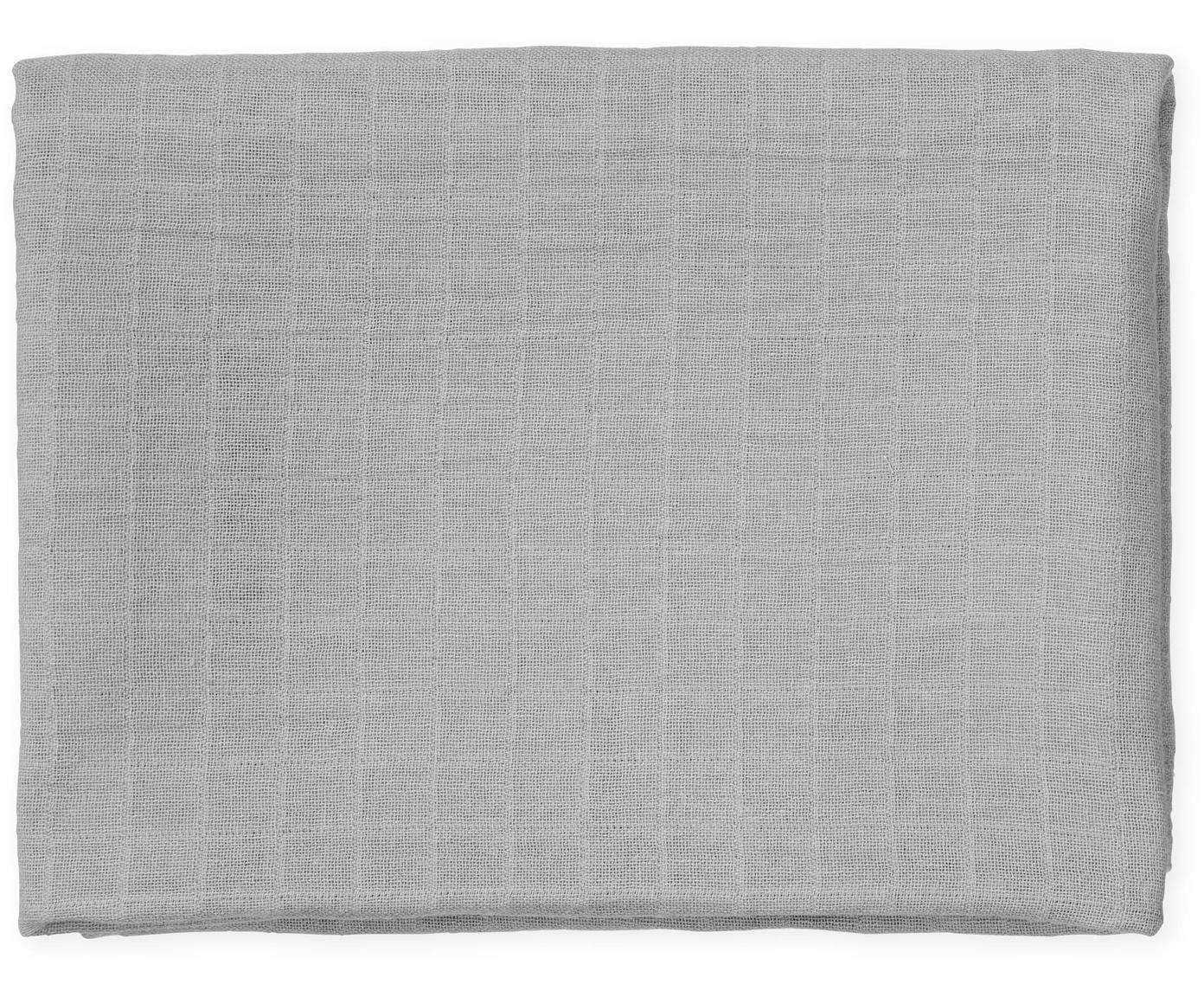 Bavlněná plenka z organické bavlny Muslin, 2 ks, Šedá