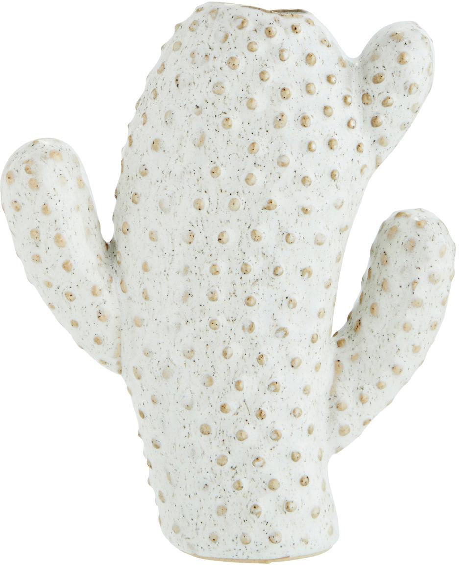 Kleine Vase Caty aus Steingut, Steingut, Weiß, Beige, 13 x 15 cm