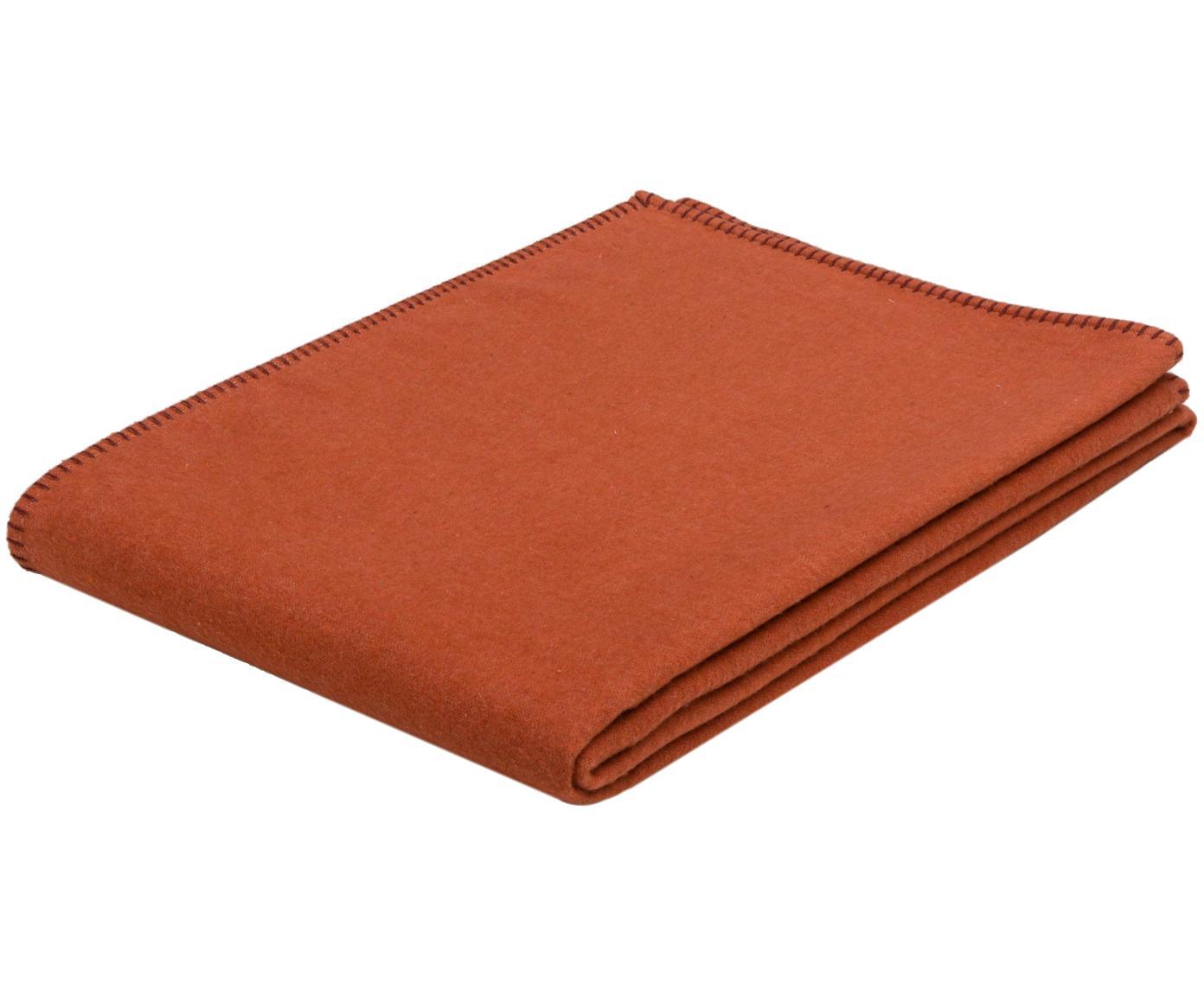 Fleece-Plaid Sylt, Webart: Jacquard, Orange, 140 x 200 cm
