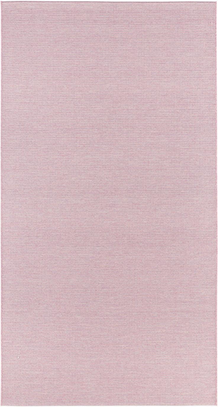Alfombra de interior/exterior Millay, 100%polipropileno, Rosa, An 80 x L 150 cm (Tamaño XS)