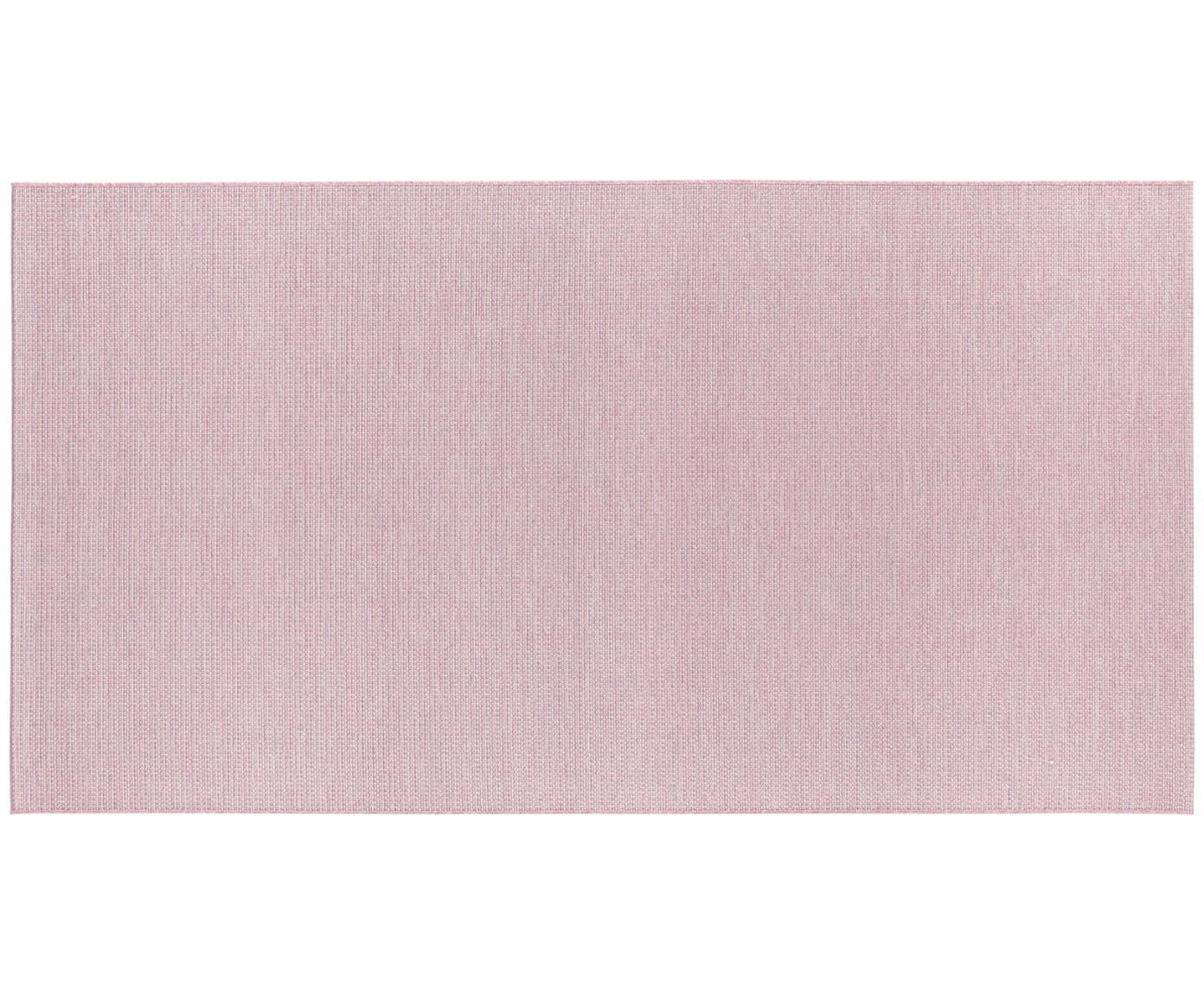In- en outdoor vloerkleed Millau in roze, Polypropyleen, Roze, B 80 x L 150 cm (maat XS)