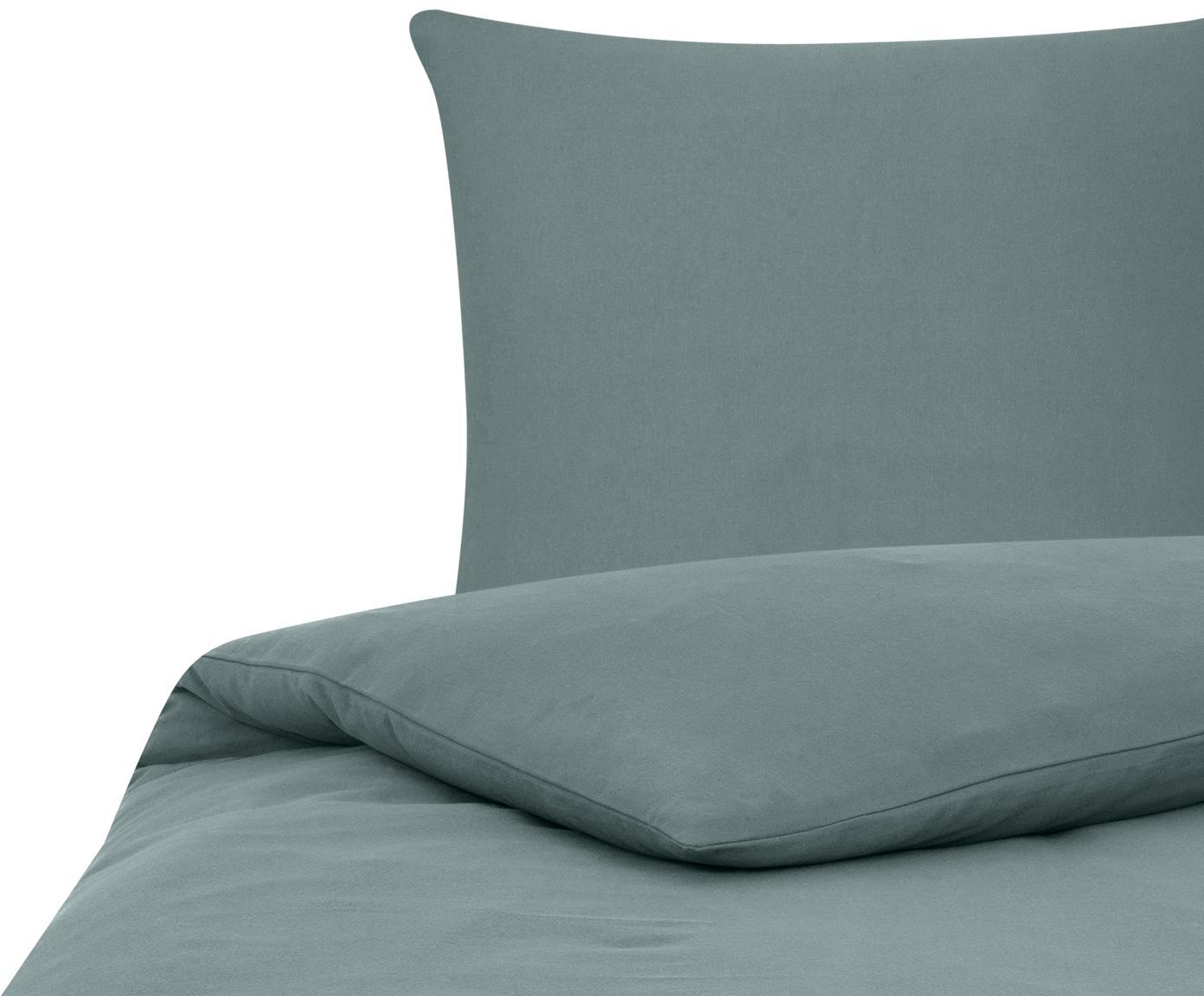 Flanell-Bettwäsche Biba in Grün, Webart: Flanell Flanell ist ein s, Grün, 135 x 200 cm + 1 Kissen 80 x 80 cm