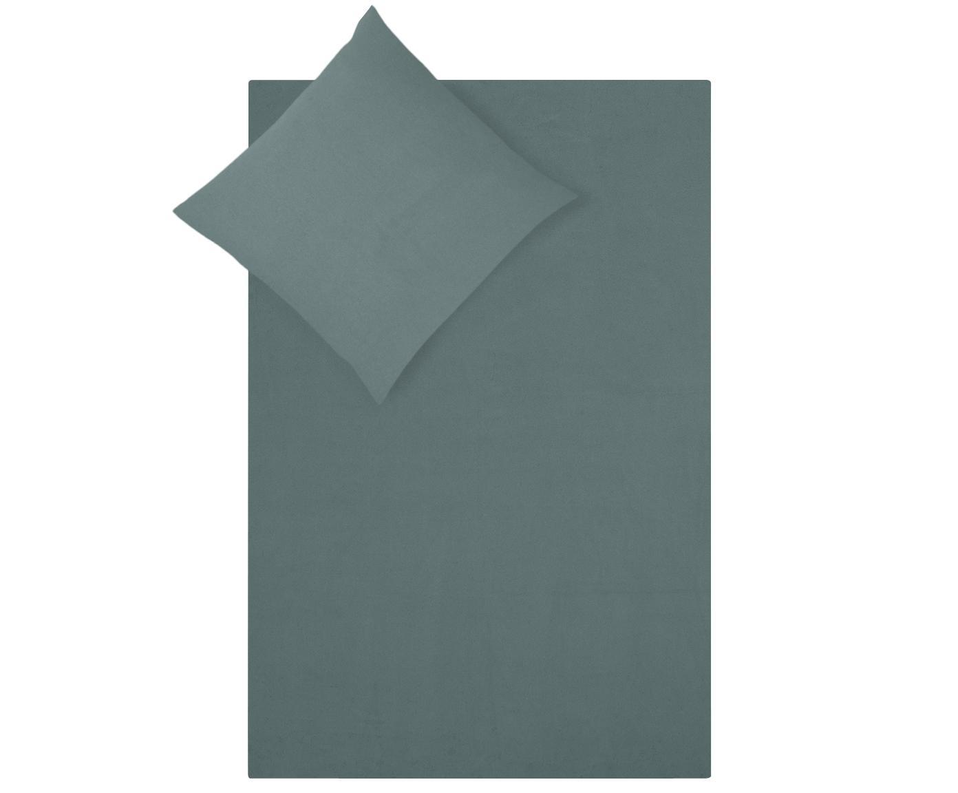 Flanell-Bettwäsche Biba in Grün, Webart: Flanell Flanell ist ein s, Grün, 240 x 220 cm + 2 Kissen 80 x 80 cm