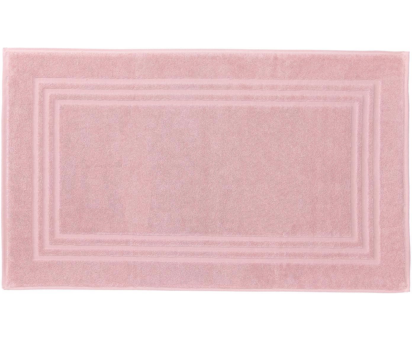 Eenkleurig badmat Gentle, Katoen, Roze, 50 x 80 cm