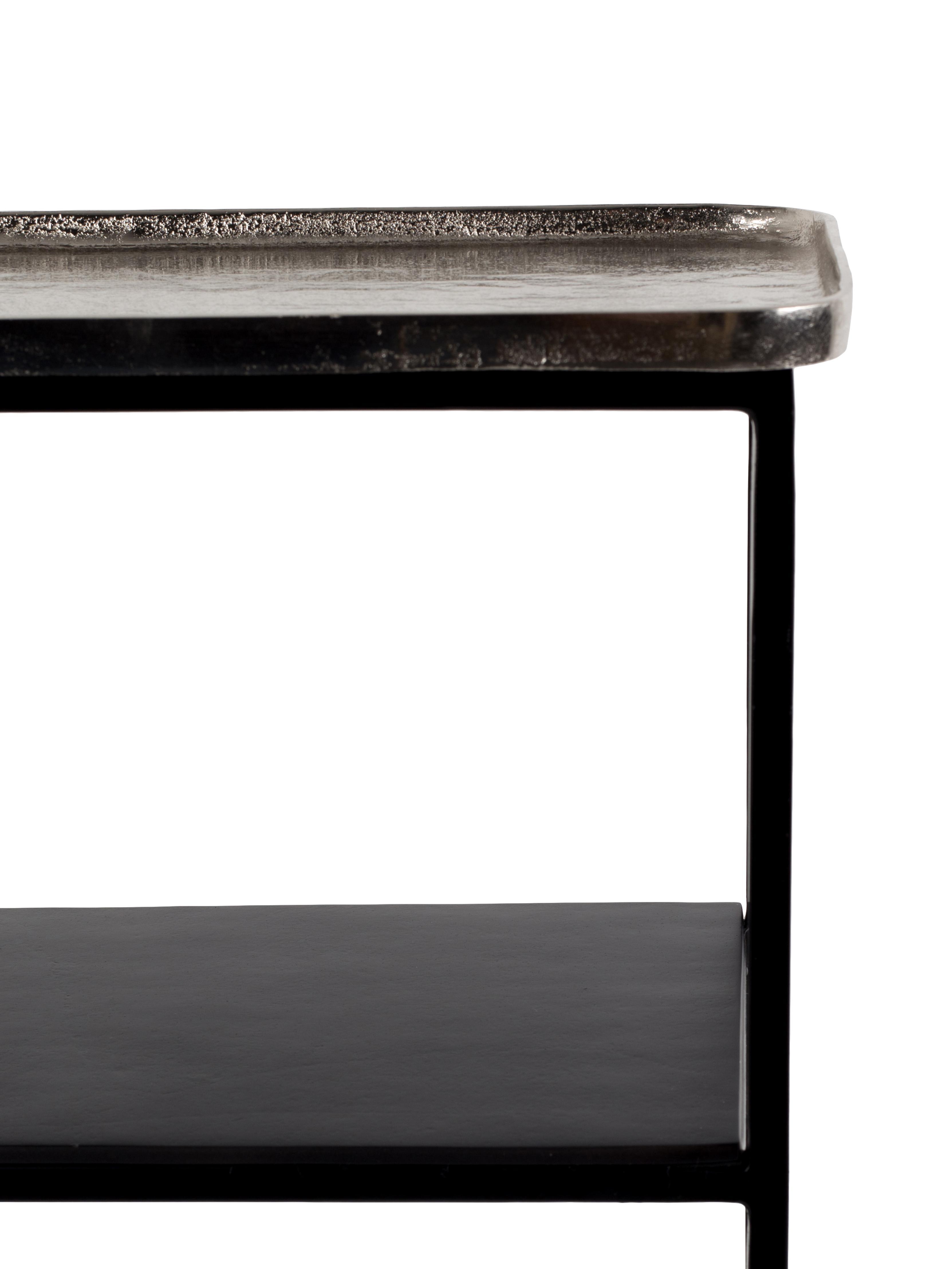 Schwarzes Regal Gusto mit Rollen, Schwarz, 80 x 74 cm