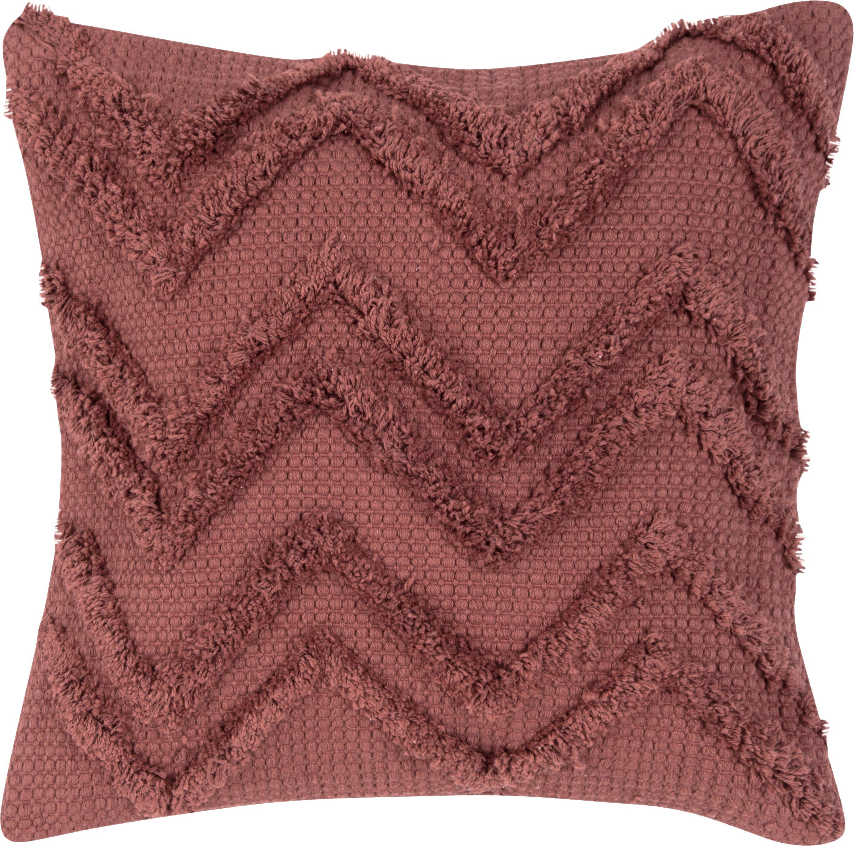 Poszewka na poduszkę Akesha, 100% bawełna, Rudy, S 45 x D 45 cm
