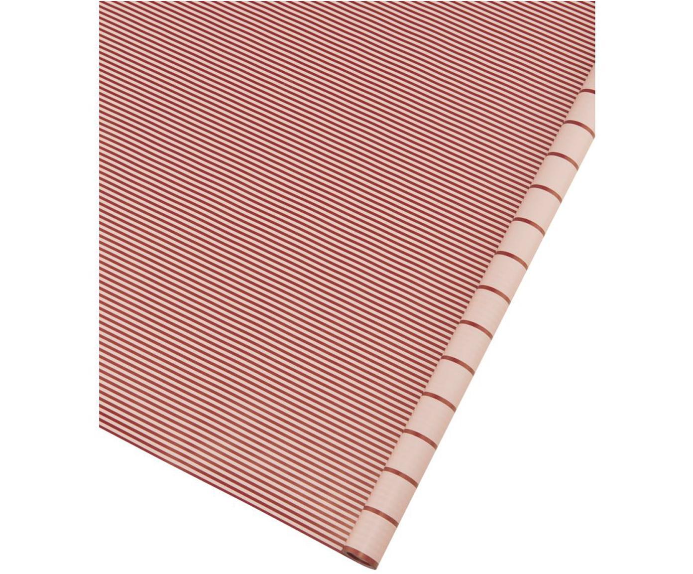 Geschenkpapier-Rolle Stripey, Papier, Rot, Pink, 50 x 70 cm