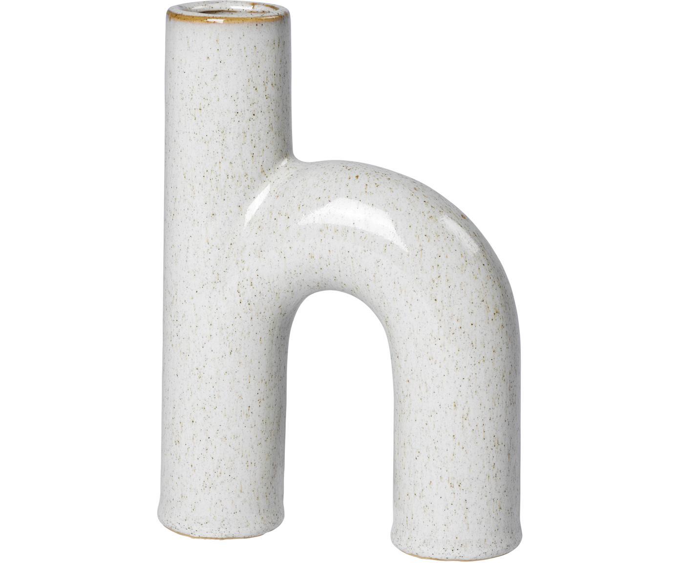 Vaso di design in terracotta Hector, Gres, Grigio, Larg. 13 x Alt. 19 cm