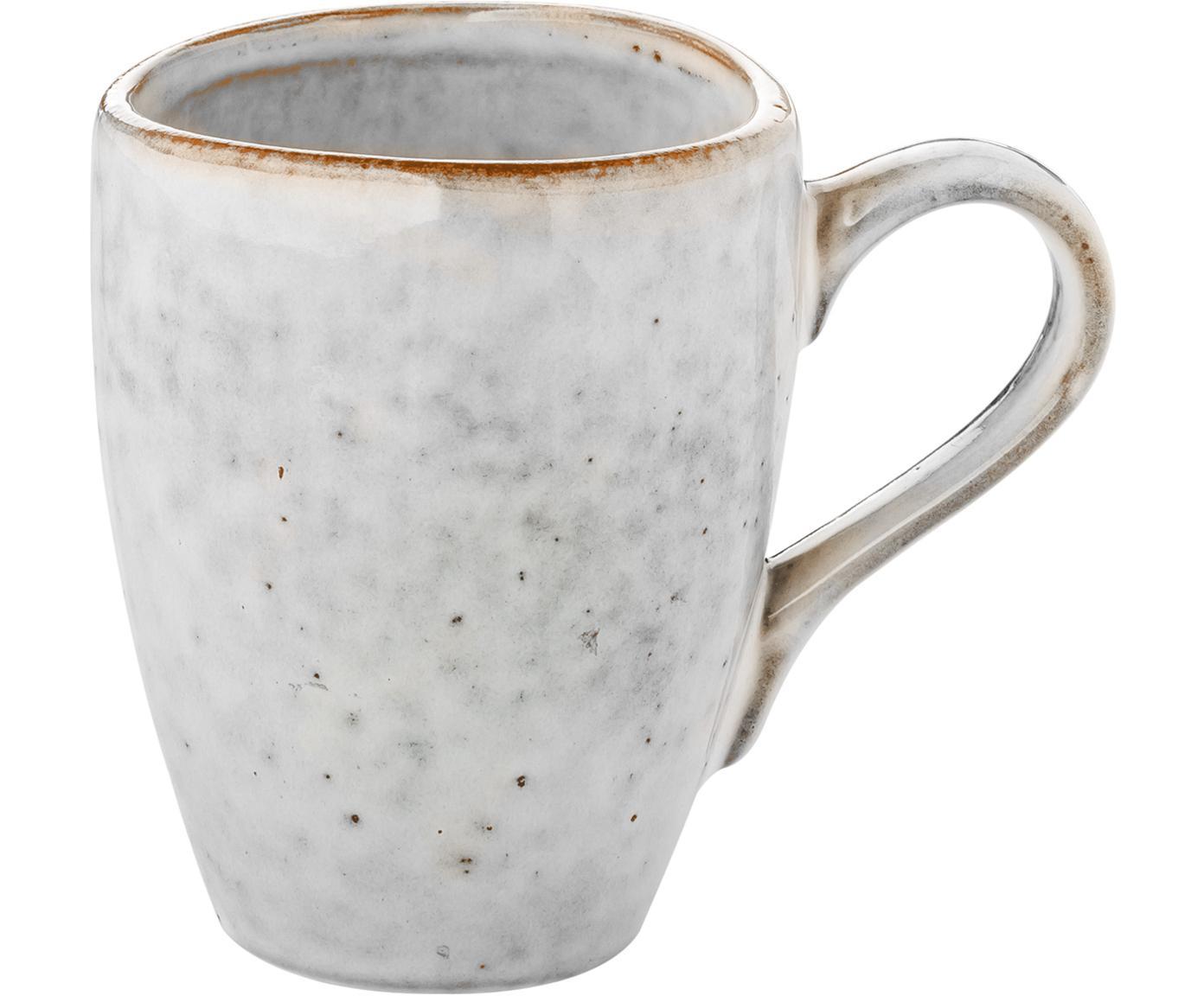 Handgemachte Tassen Nordic Sand aus Steingut, 6 Stück, Steingut, Sand, Ø 8 x H 10 cm