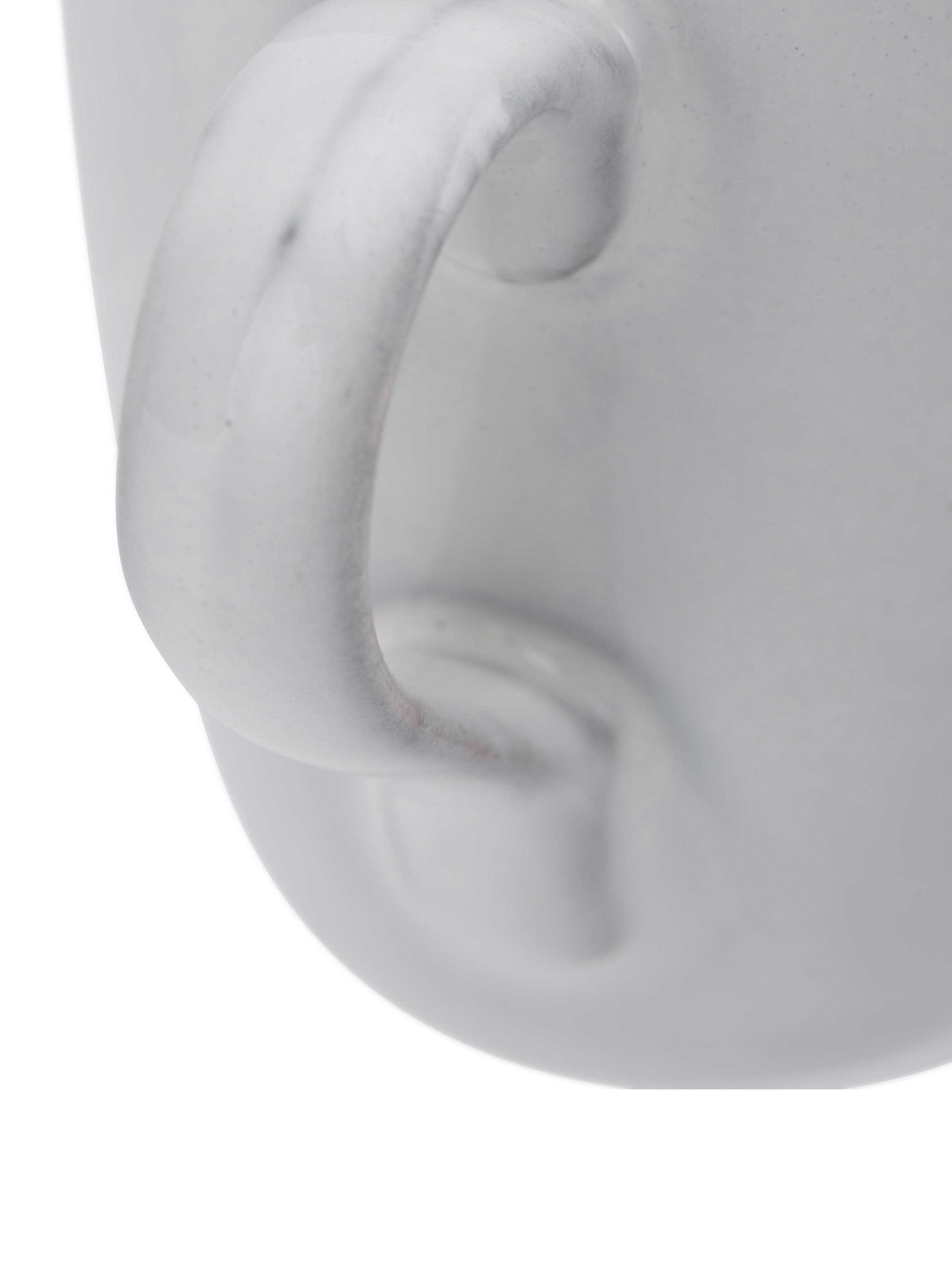 Handgemaakte mokken Nordic Sand, 6 stuks, Keramiek, Zandkleurig, Ø 8 x H 10 cm