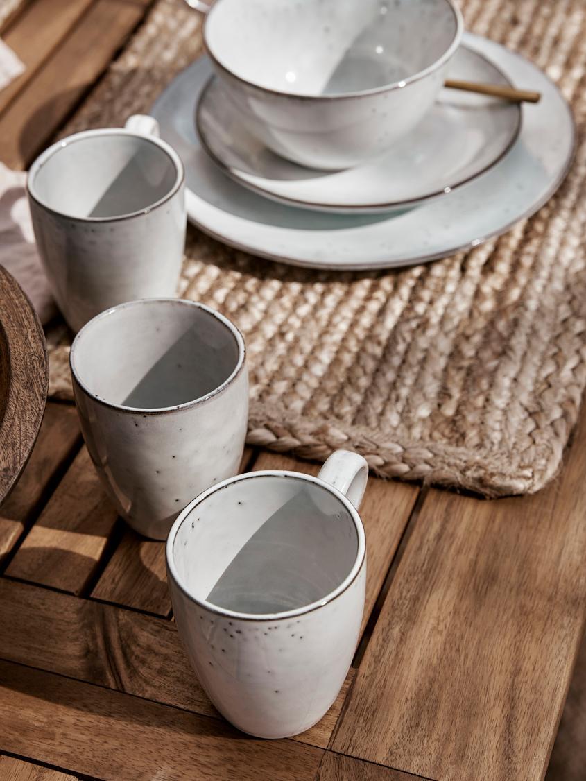 Tasses faites à la main Nordic sable, 6pièces, Sable