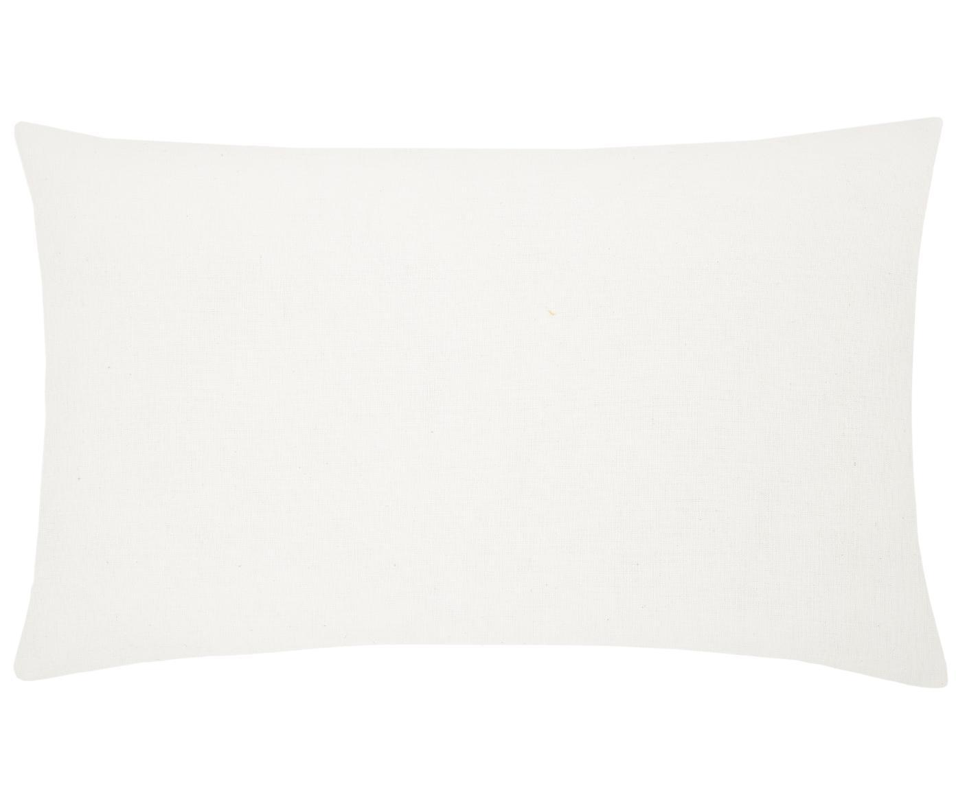Haftowana  poszewka na poduszkę Tabula, Bawełna, Kremowobiały, wielobarwny, S 30 x D 50 cm