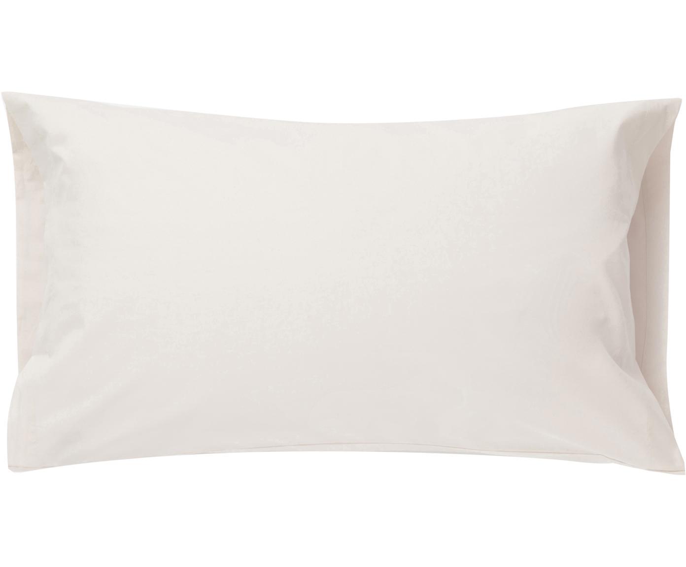 Funda de almohada Plain Dye, Algodón, Crema, An 50 x L 110 cm
