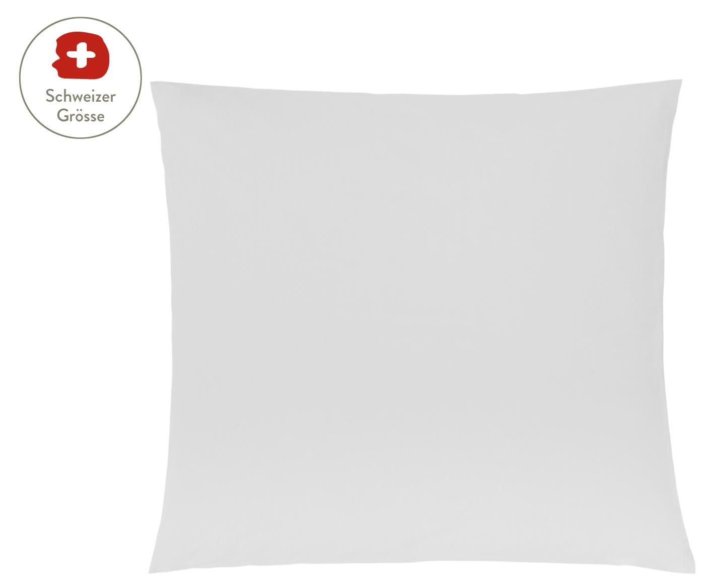 Baumwollperkal-Kissenbezug Elsie in Hellgrau, Webart: Perkal Fadendichte 200 TC, Hellgrau, 65 x 65 cm